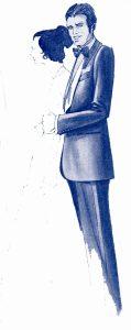 服装スタイルの「謎・不思議」: タキシード・パンツの側章デザインの意味は?