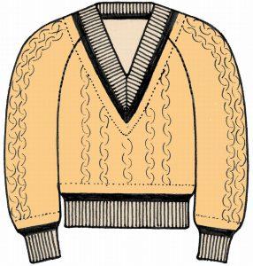 海外でまったく通用しないファッション用語:チルデン・セーター
