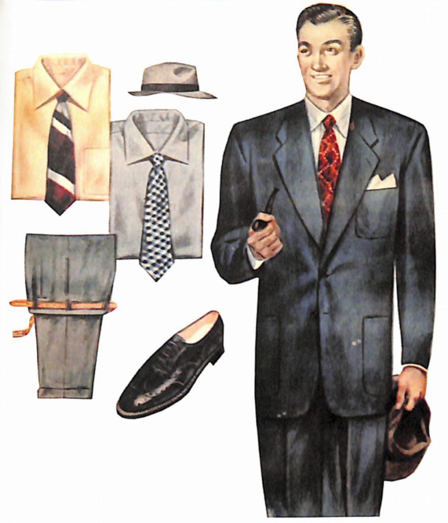 50〜60年代に流行したスーツ・スタイル:無難なブルーのスーツ