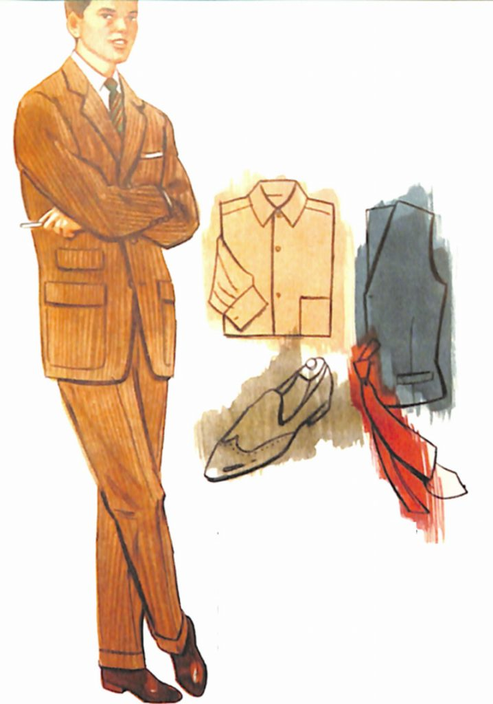 50〜60年代に流行したスーツ・スタイル:ダスキイトーンのスーツ