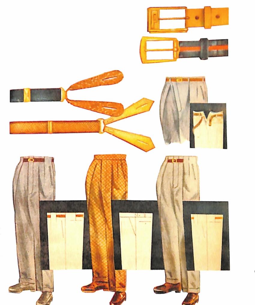 50〜60年代に流行したアクセサリー・スタイル:サスペンダーとベルト