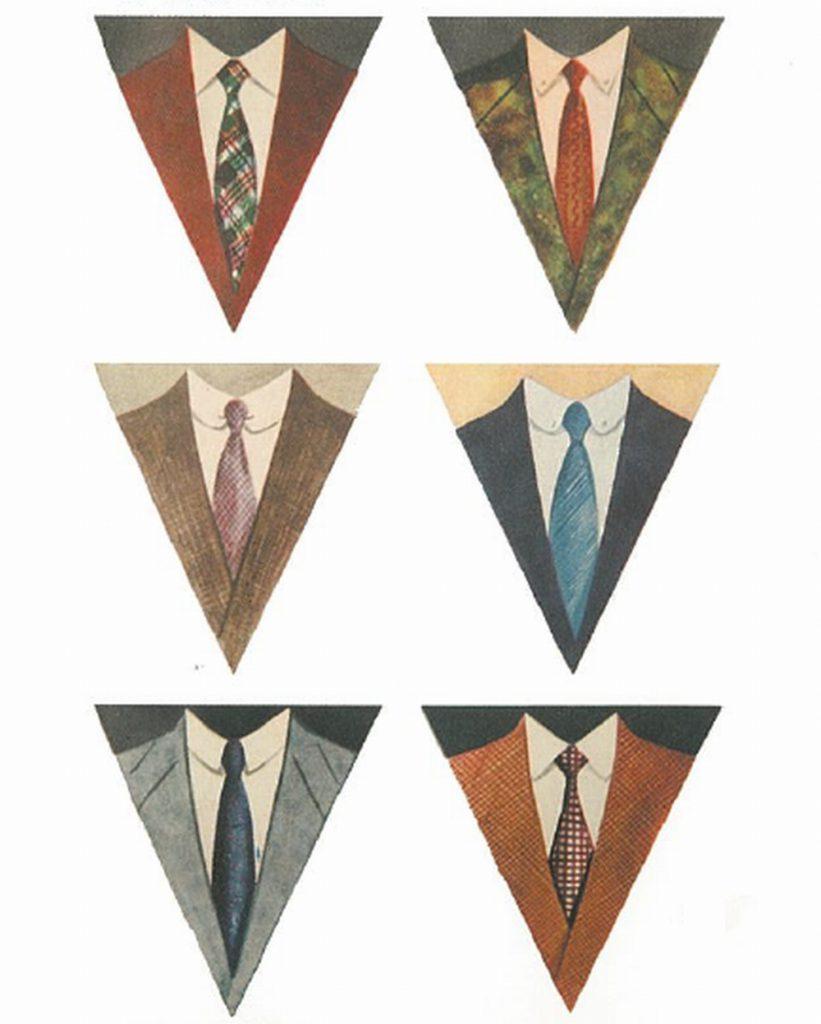 50〜60年代に流行した配色スタイル:1953年春のVゾーン配色