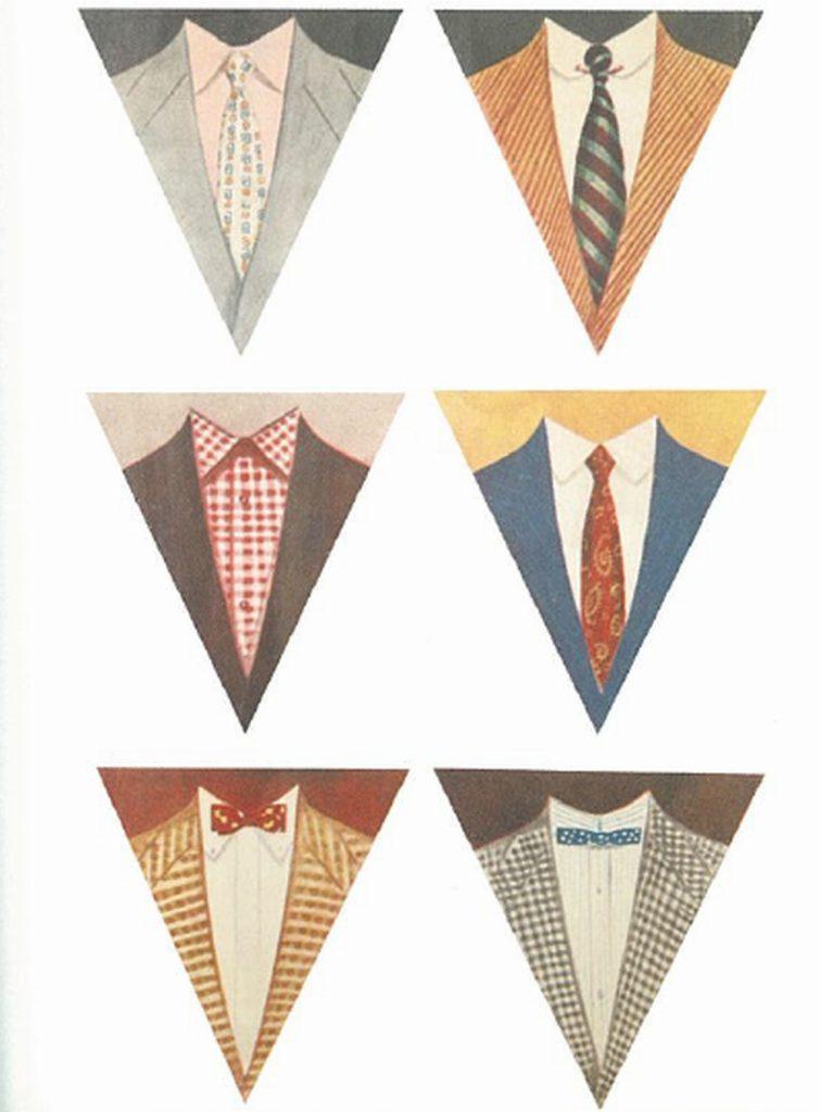50〜60年代に流行した配色スタイル:さまざまなVゾーンの演出