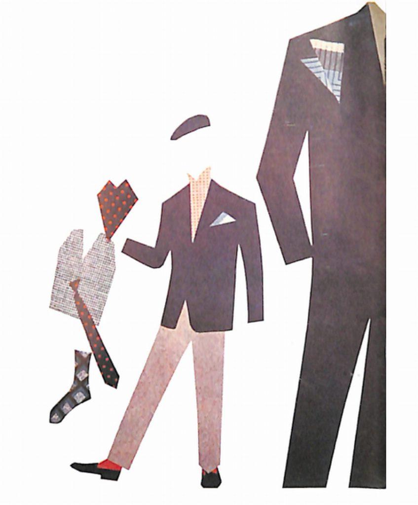 50〜60年代に流行した配色スタイル:ダークブルウの背広