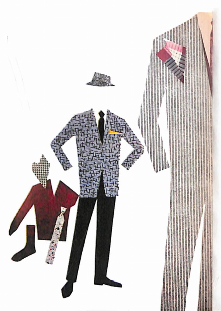 50〜60年代に流行した配色スタイル:ダークグレイの背広
