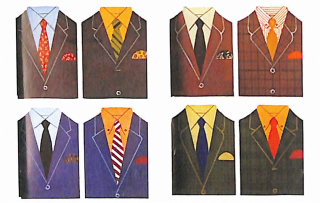 50〜60年代に流行した配色スタイル:1967年春夏のVゾーン