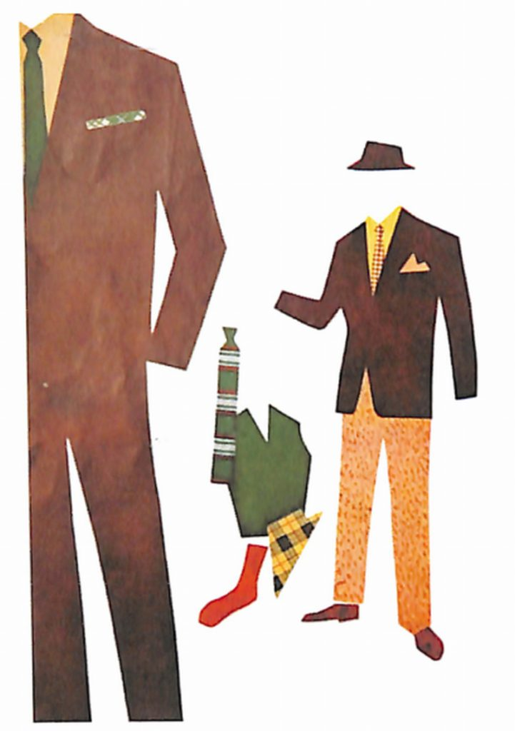 50〜60年代に流行した配色スタイル:背広とアクセサリーの基本的な配色