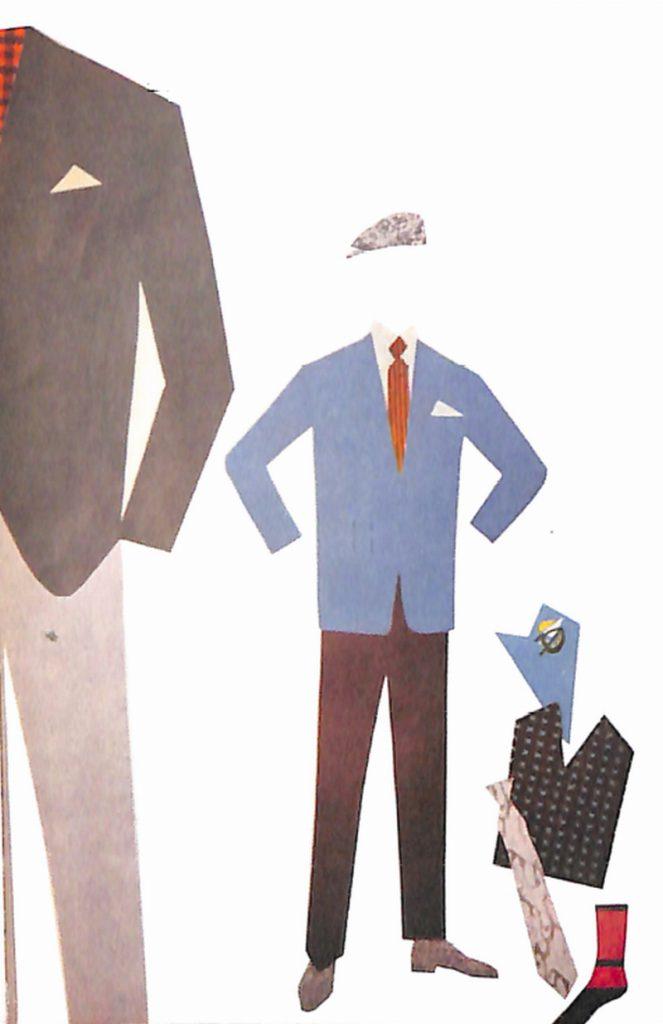 50〜60年代に流行した配色スタイル:ライトブルウの背広