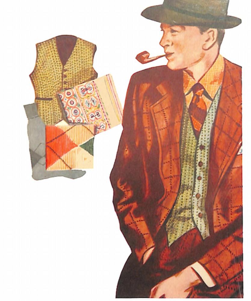 50〜60年代に流行したスーツ・スタイル:ファンシーベストをあしらったタウンスーツ