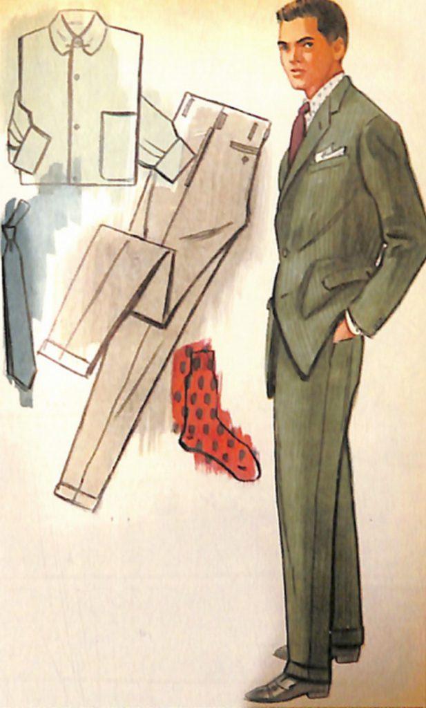 50〜60年代に流行したスーツ・スタイル:エレガントなグリーンスーツ