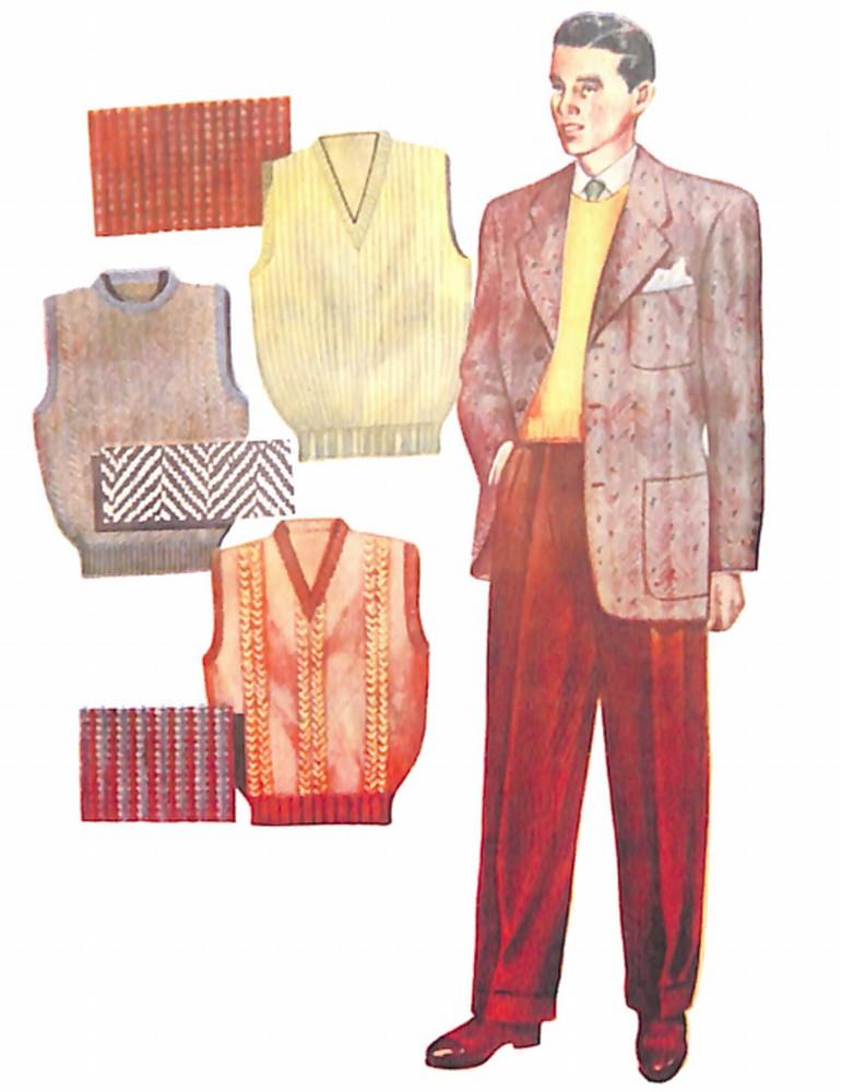 50〜60年代に流行したジャケット・スタイル:ベストを合わせたジャケットスタイル