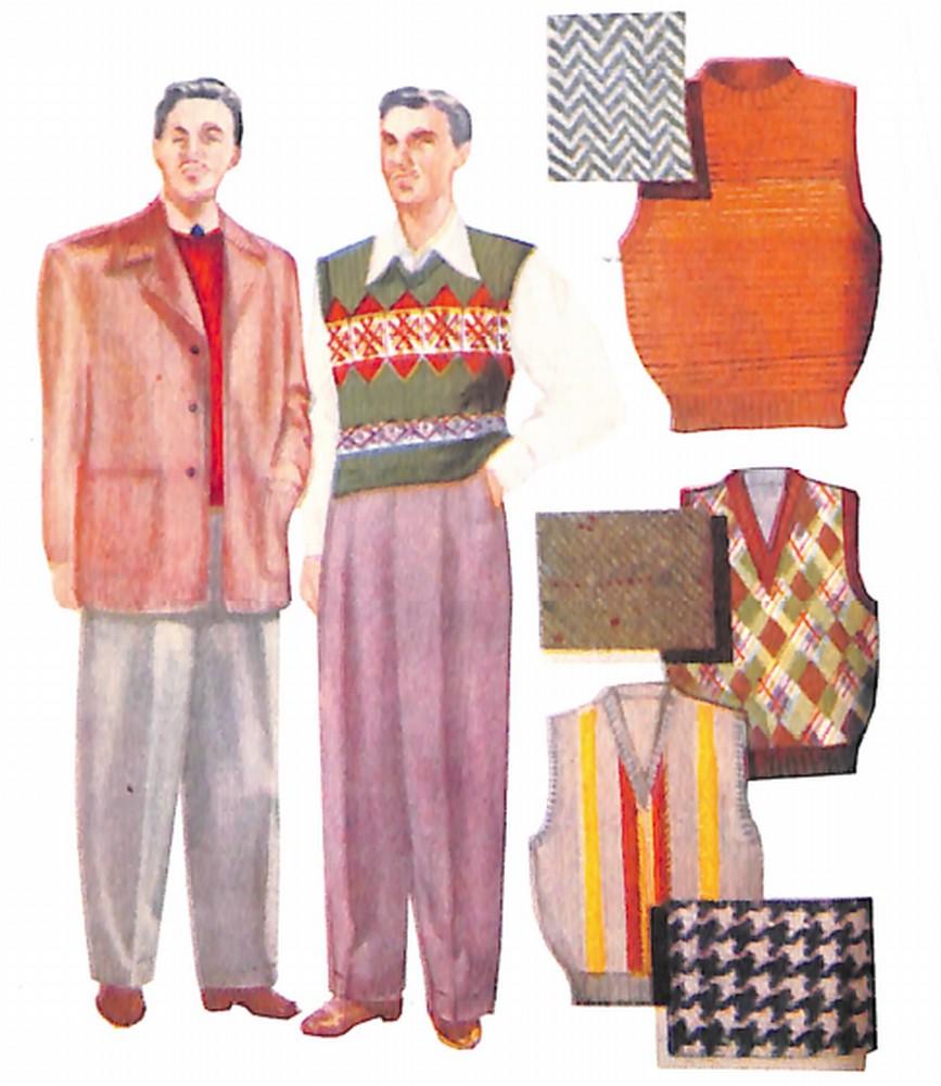 50〜60年代に流行したジャケット・スタイル:ジャケット・プラス・ベストスタイル