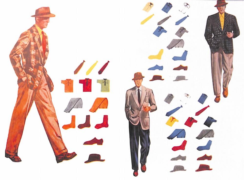 50〜60年代に流行したジャケット・スタイル:基本3色のコーディネーション