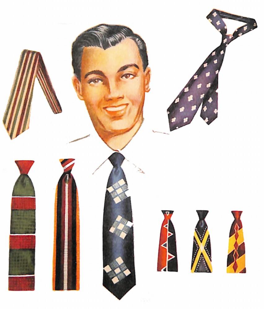 50〜60年代に流行したアクセサリー・スタイル:1951年のネクタイ