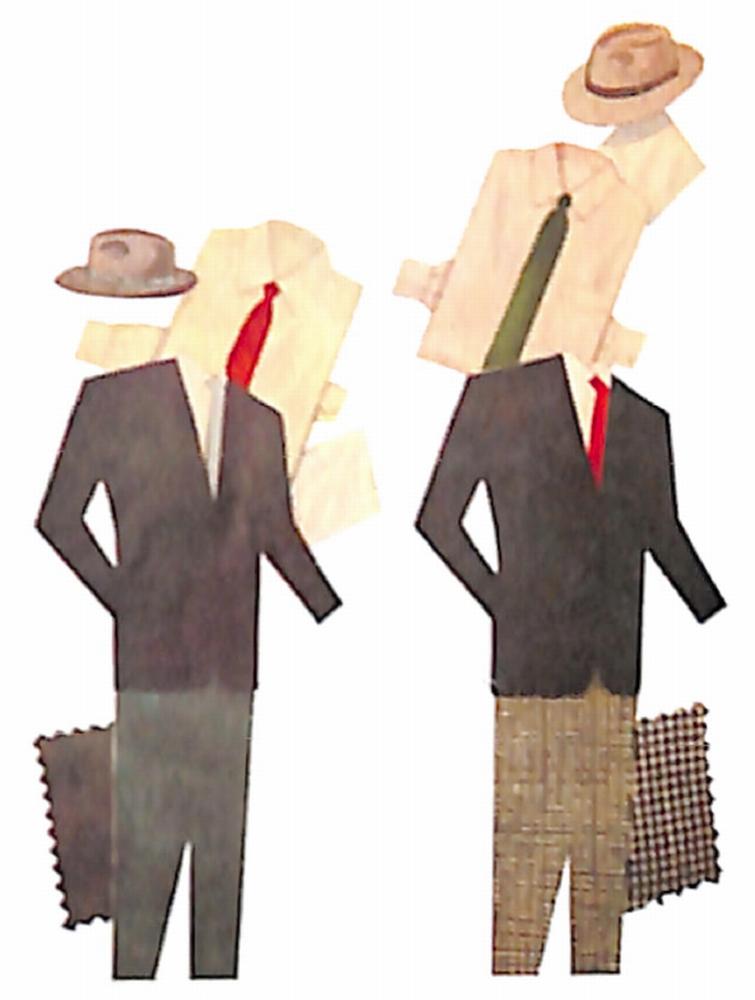 50〜60年代に流行した配色スタイル:紺の上着の着こなし