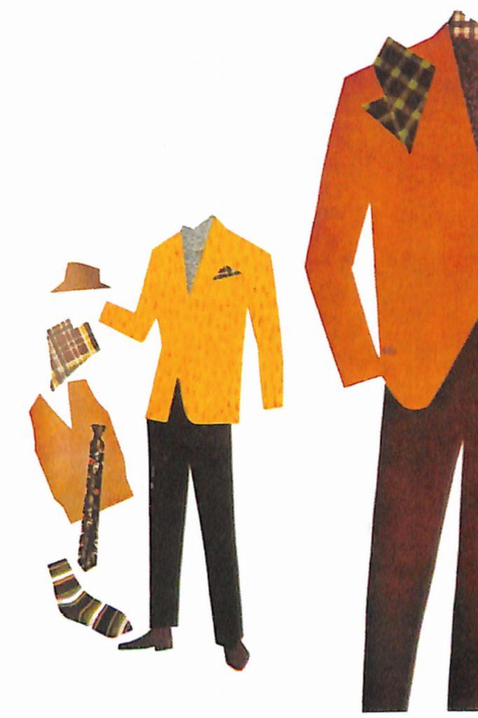 50〜60年代に流行した配色スタイル:ライトブラウンの背広