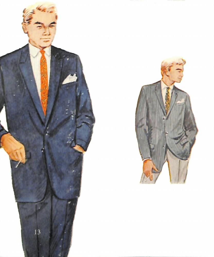 50〜60年代に流行したスーツ・スタイル:無難な紺系スーツ