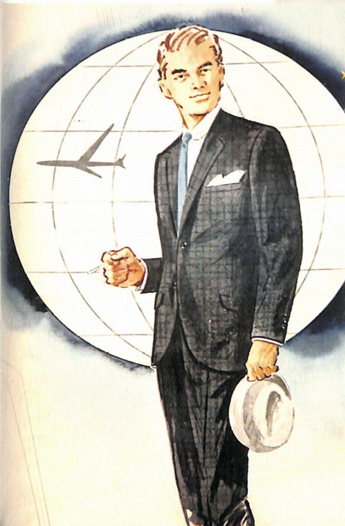 50〜60年代に流行したスーツ・スタイル:ポーラージェットラインのスーツ