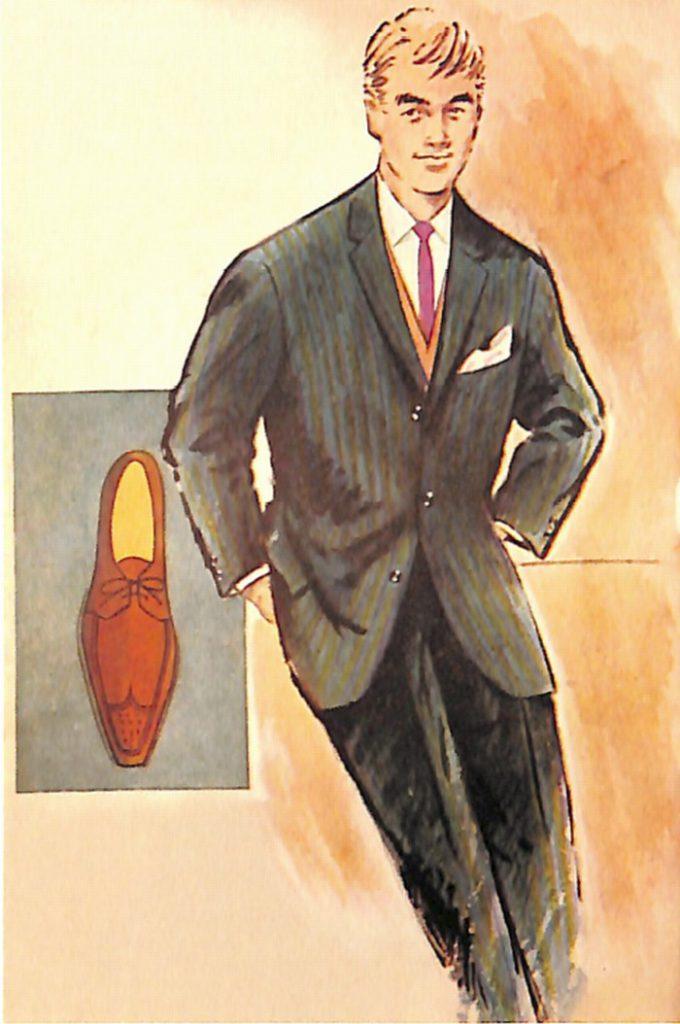 50〜60年代に流行したスーツ・スタイル:ブルースーツに茶色の靴