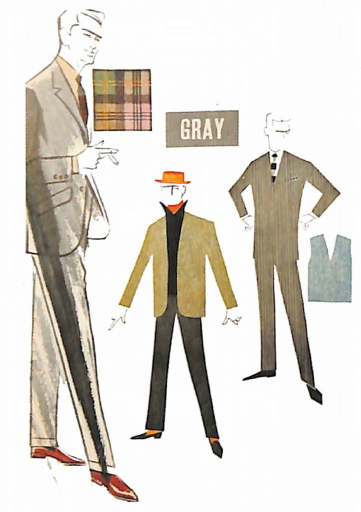 50〜60年代に流行した配色スタイル:基本的な配色術<グレー>