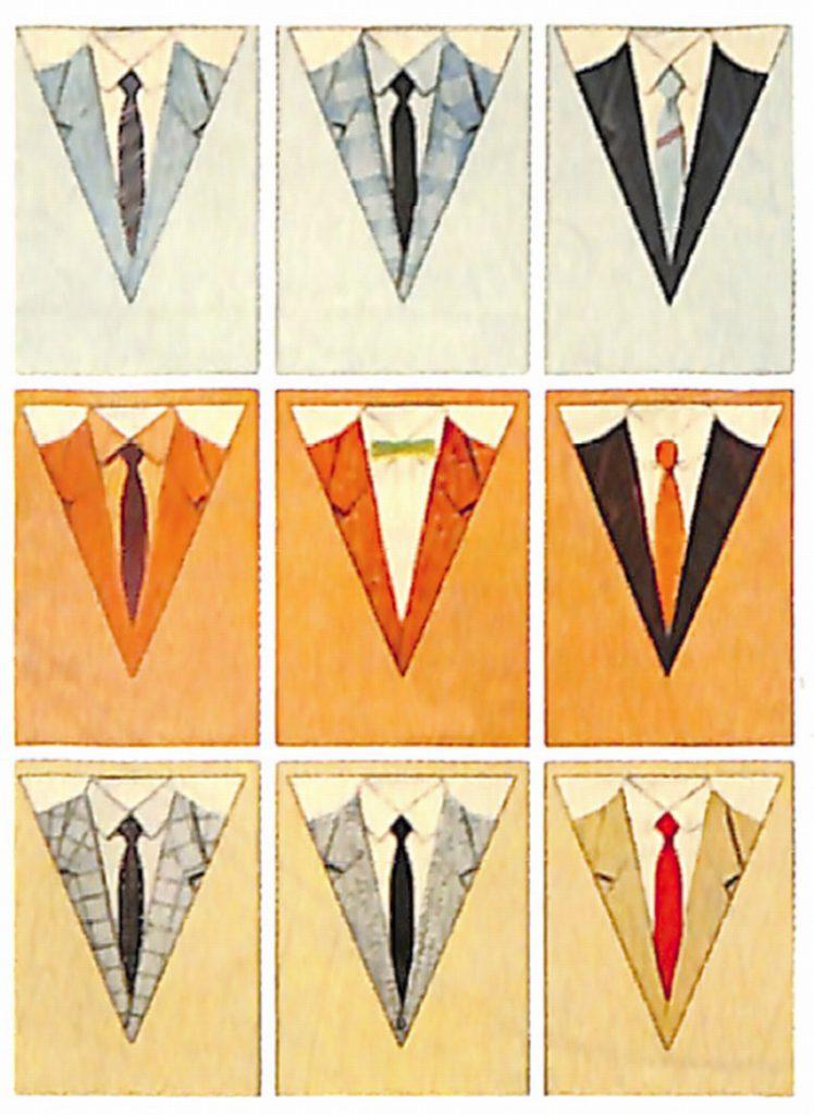 50〜60年代に流行した配色スタイル:1955年秋のVゾーン配色