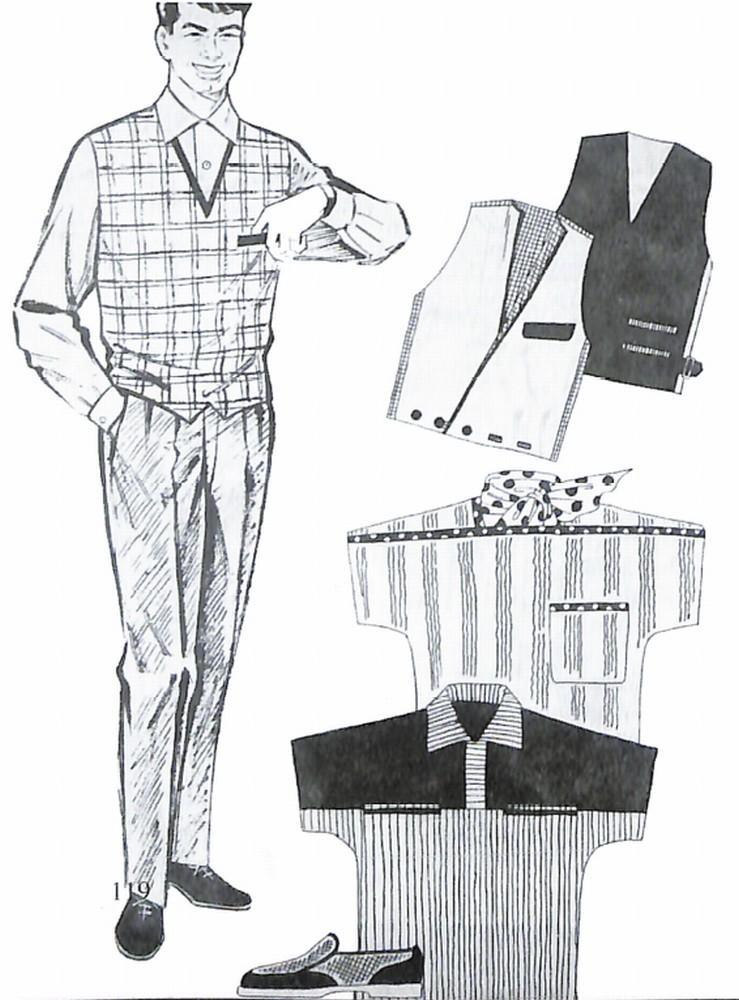 50〜60年代に着こなしスタイル:ベステッドルック