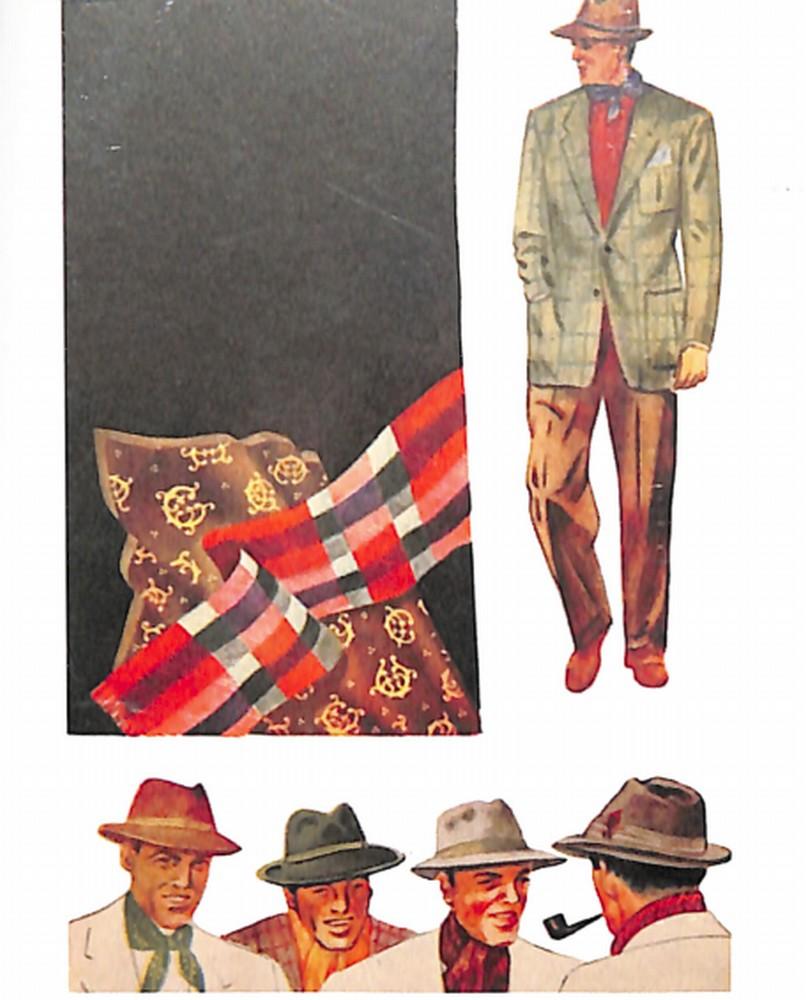 50〜60年代に着こなしスタイル:マフラーで崩したお洒落を