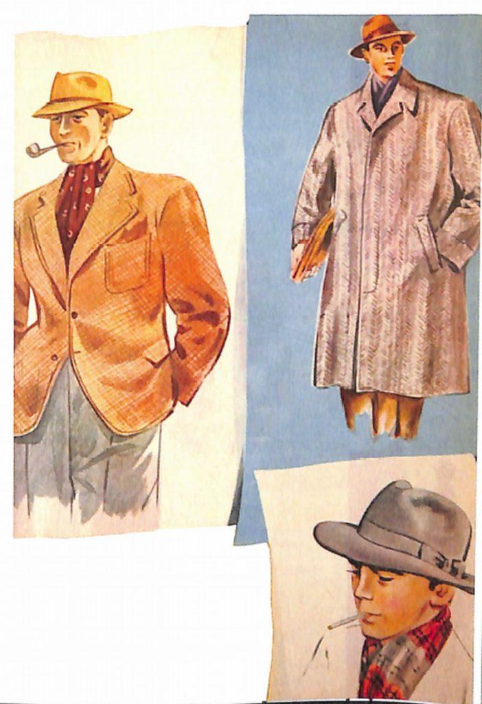 50〜60年代に着こなしスタイル:ハット&マフラーの小粋な着こなし