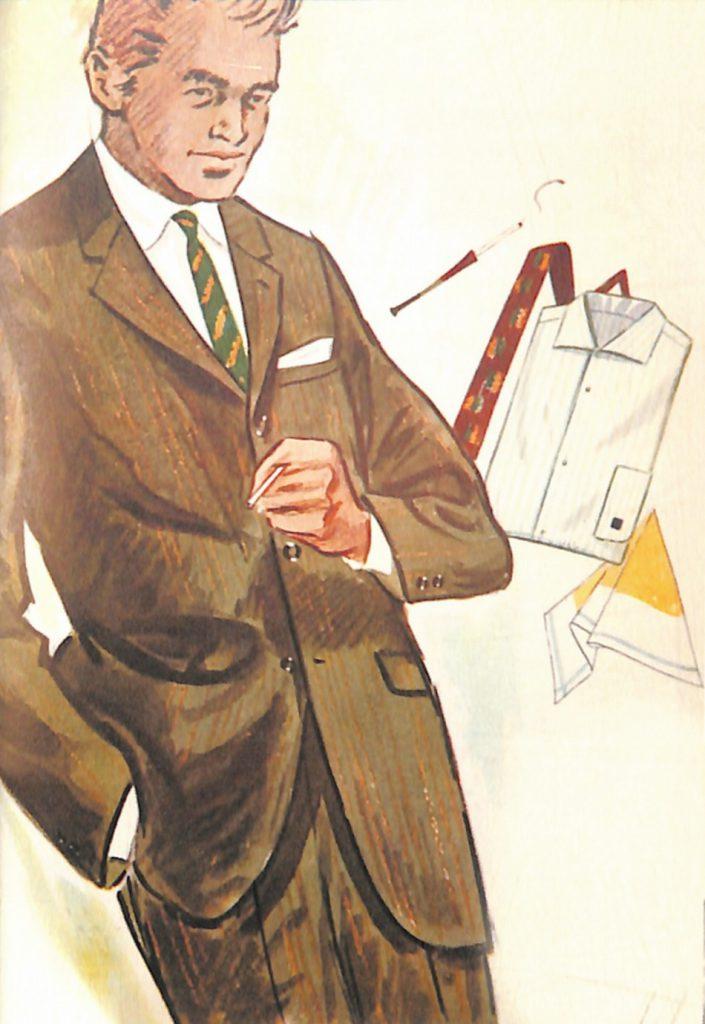50〜60年代に流行したスーツ・スタイル:61年春の新しいビジネススーツ