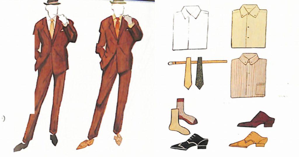 50〜60年代に流行した配色スタイル:ブラウンスーツのカラーコーディネート
