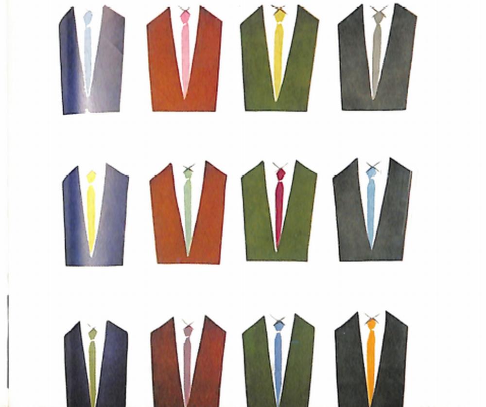 50〜60年代に流行した配色スタイル:61年秋冬のVゾーン配色