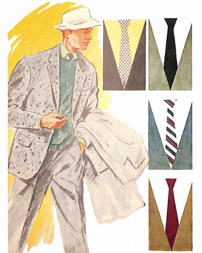 50〜60年代に着こなしスタイル:グレー・ジャケットのVゾーン