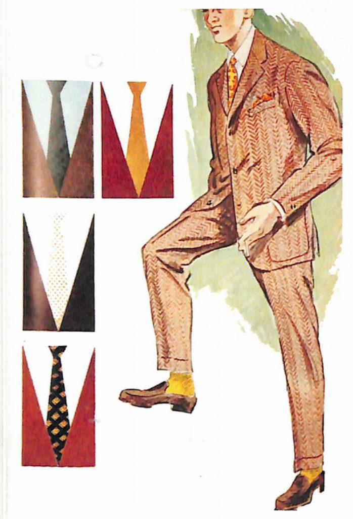 50〜60年代に着こなしスタイル:ブラウン・スーツのVゾーン