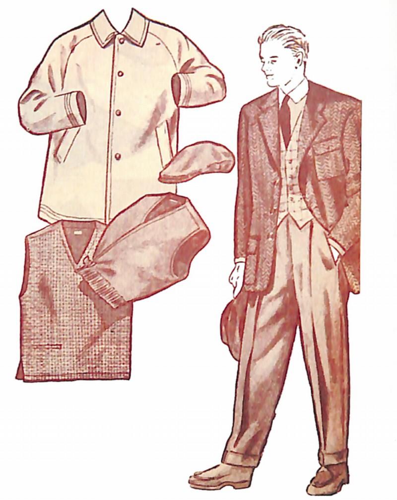50〜60年代に流行したジャケット・スタイル:スポーティーなシングル3ボタンジャケット
