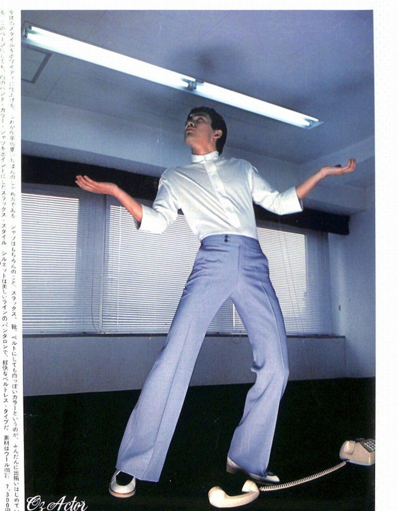 トータル・ファッション講座「サマー・スラックス」:ホワイティに仕上げる・・・男子専科 Jury 1977 より
