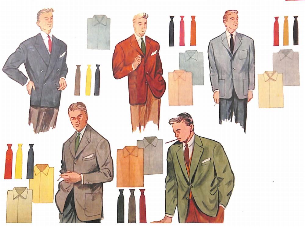 50〜60年代に流行したジャケット・スタイル:男の基本5色の配色術