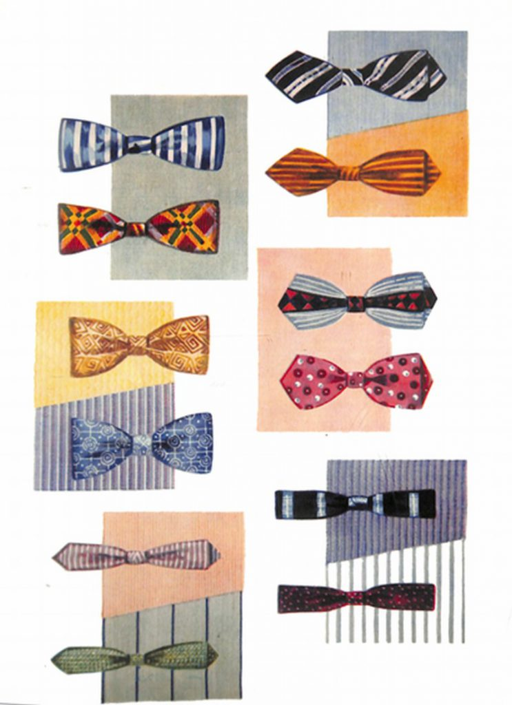 50〜60年代に流行したアクセサリー・スタイル:ボウタイとシャツのコーディネート