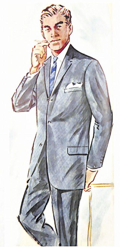 50〜60年代に流行したスーツ・スタイル:61年春のシングルスーツ