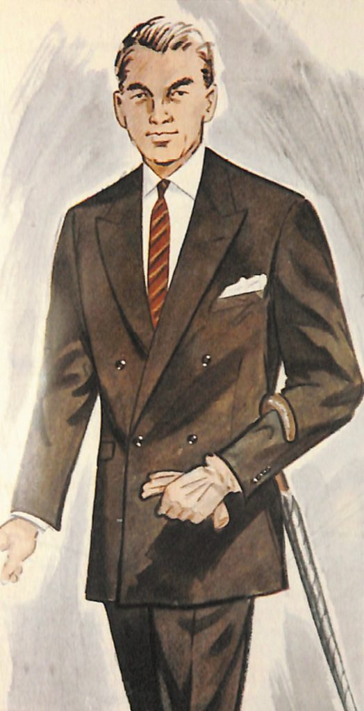 50〜60年代に流行したスーツ・スタイル:ロンドン・ルックのダブルスーツ