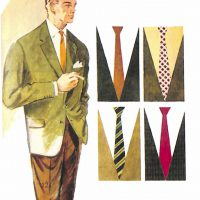 50〜60年代に着こなしスタイル:グリーン・ジャケットのVゾーン