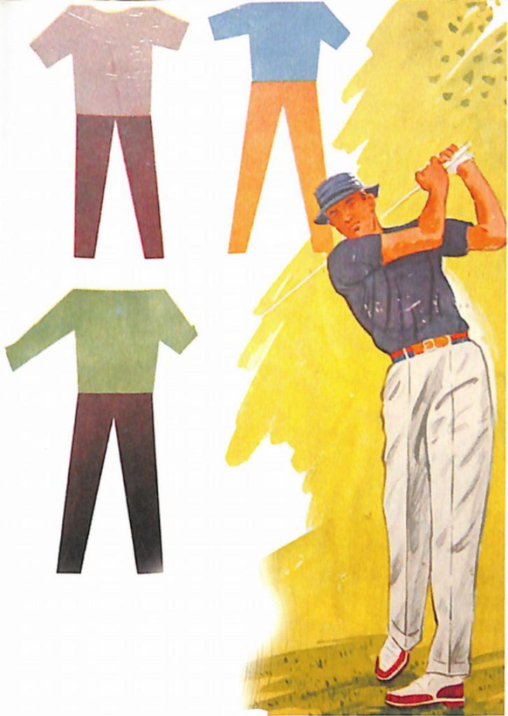 50〜60年代に流行したニット&シャツ・スタイル:58年のゴルフウエア