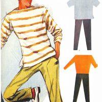 50〜60年代に流行したニット&シャツ・スタイル:ボートネックのトレーナー