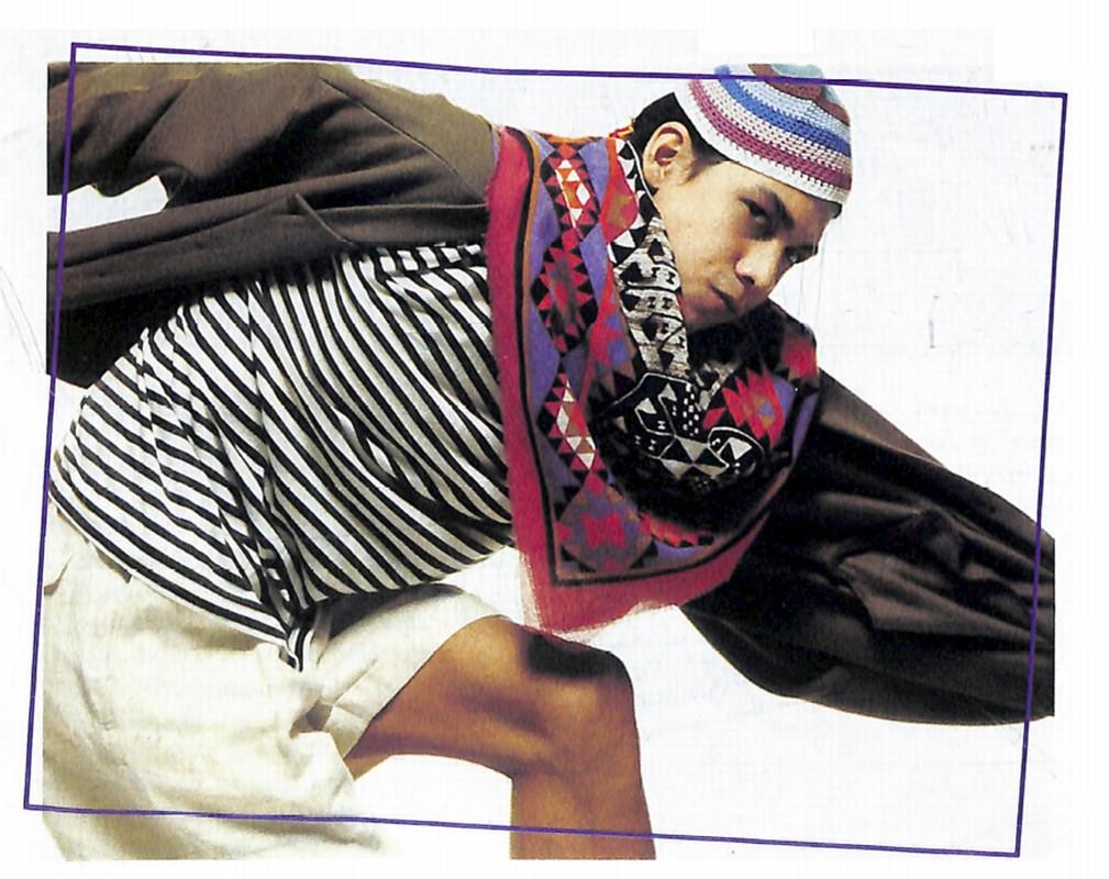 ラスタはエスニックなプリントの:東京ファション(DANSEN EX Nunber 4)・・・1987年 spring/summer