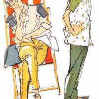 50〜60年代に流行したニット&シャツ・スタイル:シャツスタイルのおしゃれ