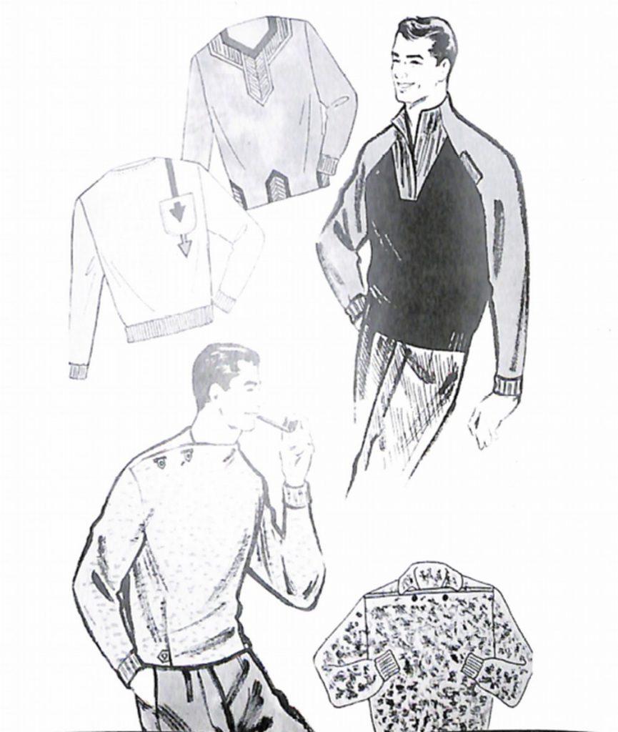 50〜60年代に流行したニット&シャツ・スタイル:56年秋のファンシーニット