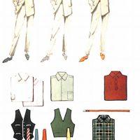 50〜60年代に流行した配色スタイル:グレースーツのカラーコーディネート