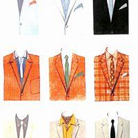 50〜60年代に流行した配色スタイル:62年春夏のVゾーン配色