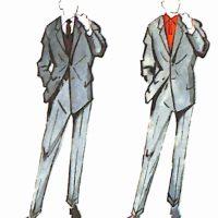 50〜60年代に流行した配色スタイル:ブルースーツのカラーコーディネート