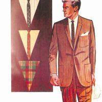 50〜60年代に流行した配色スタイル:ブラウン系のストライプド・スーツ