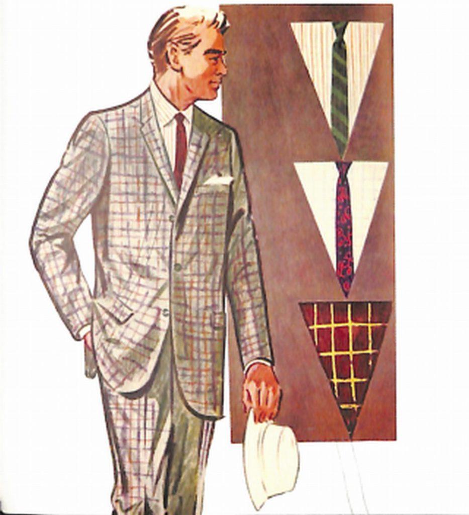 50〜60年代に流行した配色スタイル:チエックド・スーツのVゾーン